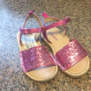Sparkly pink Carters sandals